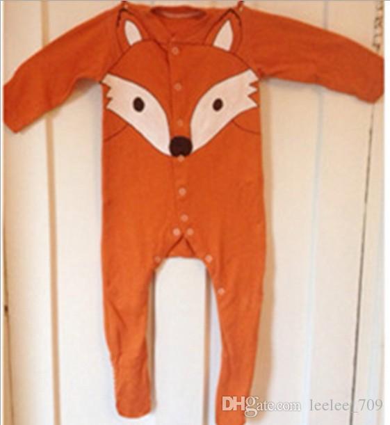 2f0f19cbc Ins Boys Girls Baby Fox Romper Onesies Clothing Newborn Rompers ...