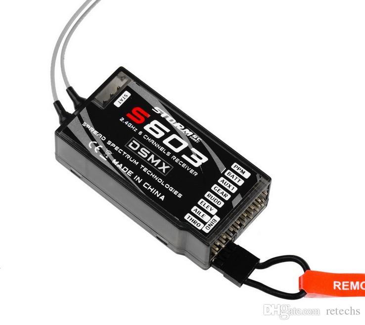 S603Receiver ReplaceAR6210 6 canali DSMX supporto ricevitore DXM2 JR e Spektrum DSM X e DSM2 uscita PPM indipendente syst Spedizione gratuita