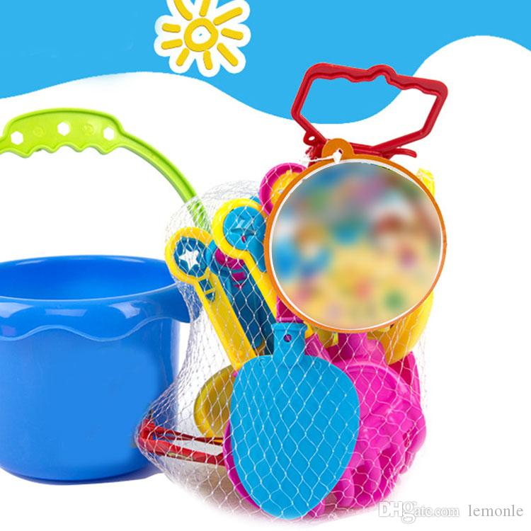 New sets sand playing tool Kids Beach Toys Castle Bucket Spade Shovel Rake Water Tools gift for kid