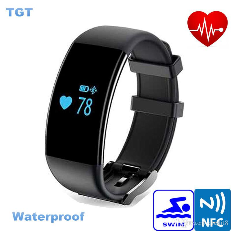 waterproof pressure fitness bracelet smart band wristband item ecg sports tracker heart rate blood monitor