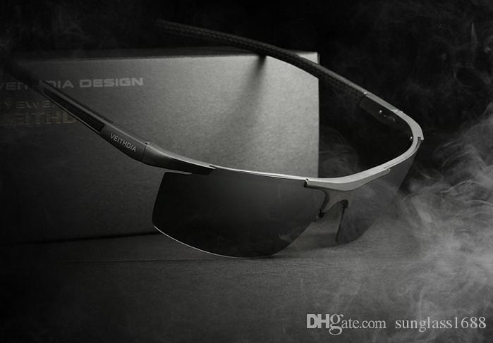 New VEITHDIA Aluminum Magnesium Men's Sunglasses Polarized Coating Mirror Sun Glasses oculos Male Eyewear Accessories For Men