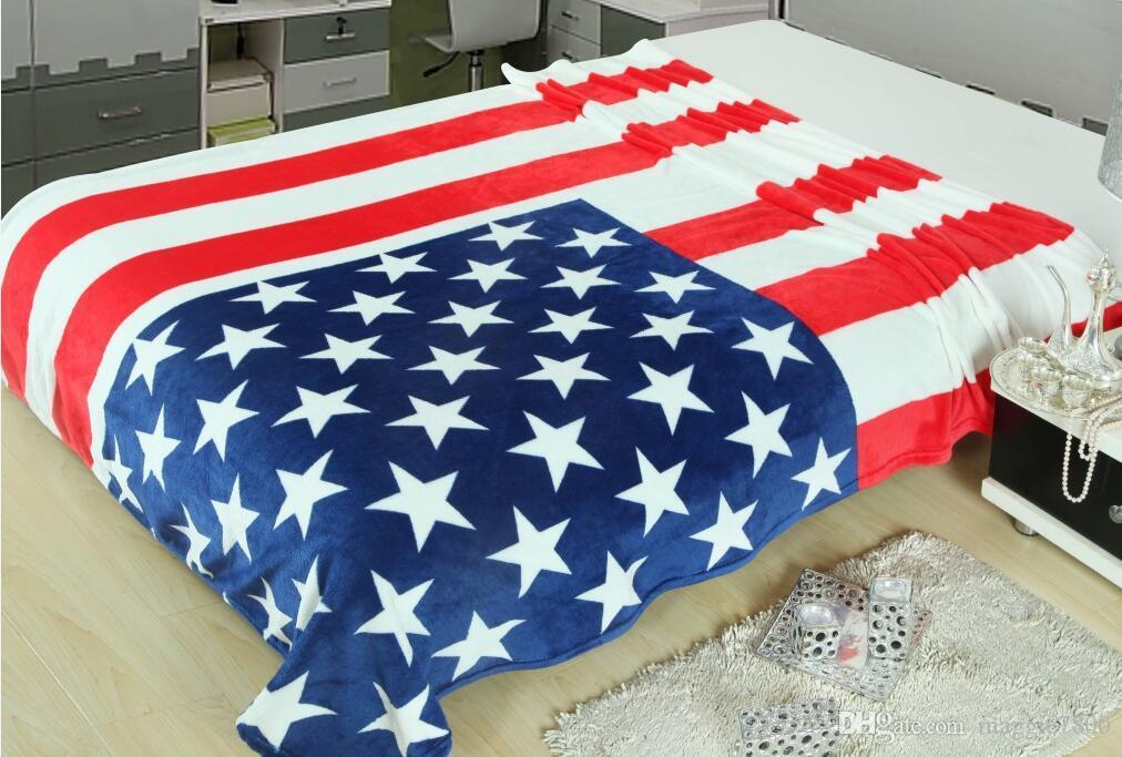 American Flag Children Blanket Velvet Baby Kids Blankets Baby Fleece