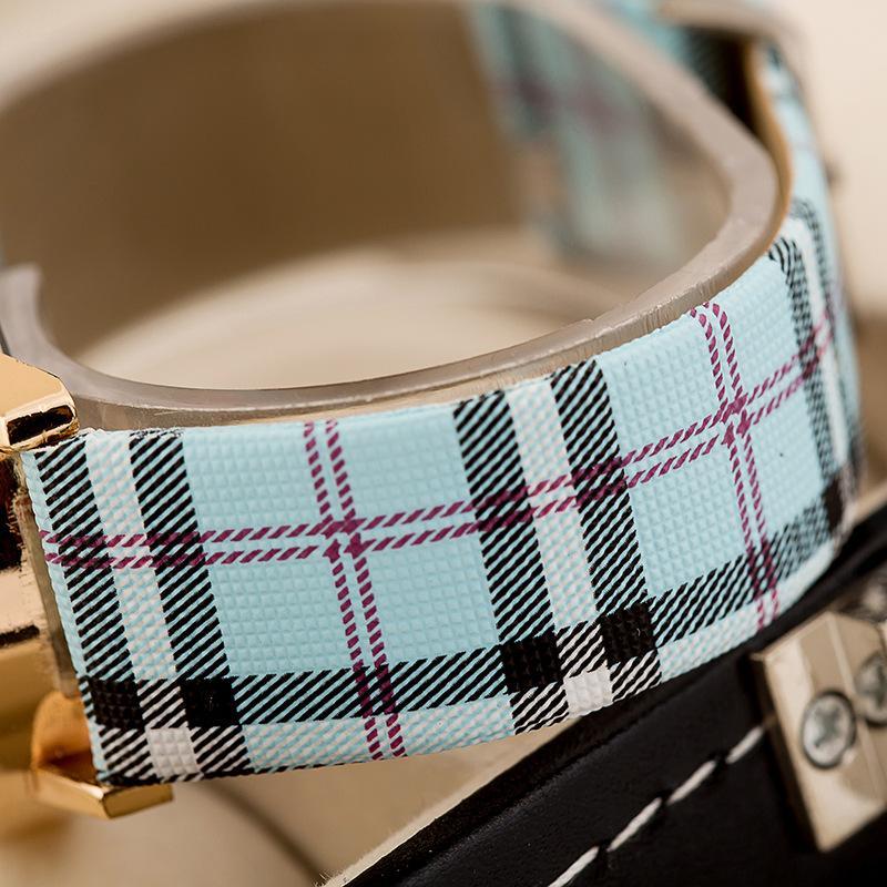 Brand New Digital Orologio al quarzo Donna Uomo Luxury Glass Lenses PU Cinturino in pelle Relogio Masculino Moda Sport Donna Orologi i Scegli