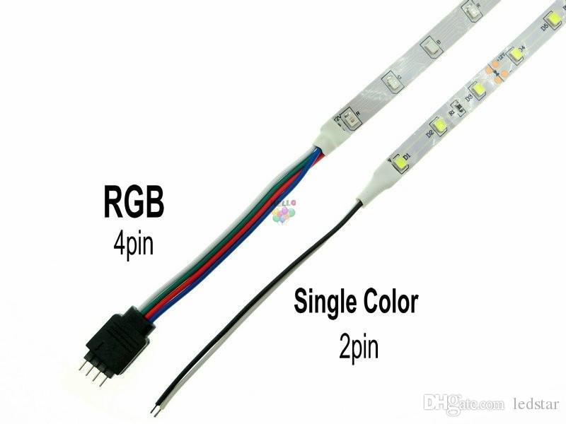 LED-remsa 2835 12V 5m 300LEDS RGB Flexibel LED Ljusremsor Vattentät Varm Vit Röd Blå Gul Grön