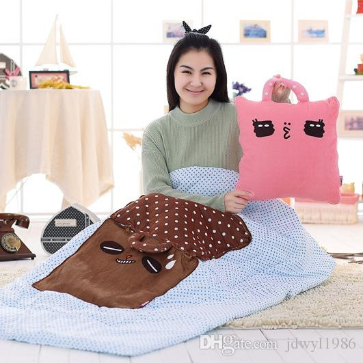 Sie brauchen es auf den ersten Blick niedlichen Cartoon Falten warme Decke oder Decke kann Kissen Kissen für Freund Freundin beste Geschenk sein