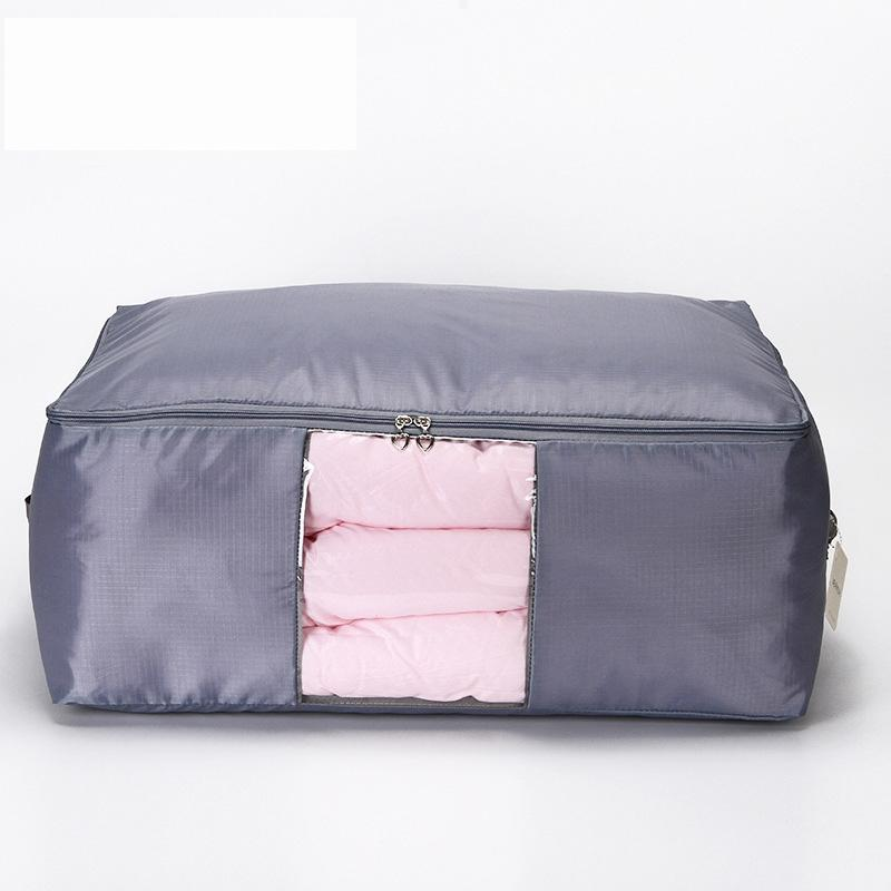 3pcs Oxford Luggage Storage Bags Folding Organizer Bag for Clothes Quilt Blanket Pillow Breathable with 2 Handles and Window