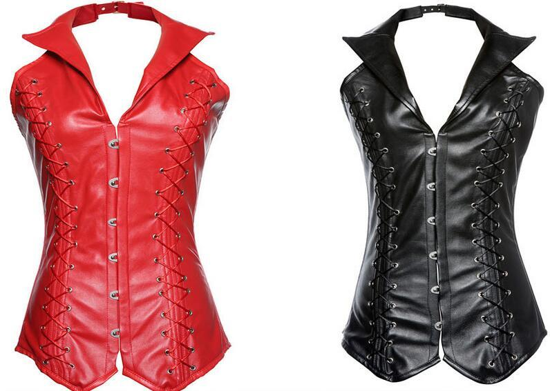 9cf03635a94 Women Waist Trainer Corsets Leather Steampunk Corselet Gothic Clothing  Waist Trainer Lingerie Slimming Party Corsets And Bustiers Leather Waist  Trainer ...