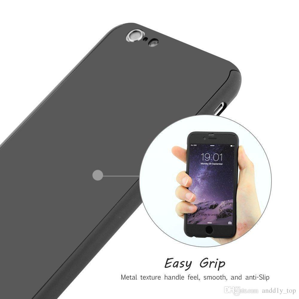 Ultra-fino de 360 graus capa protetora de capa cheia com protetor de tela de vidro temperado para iphone xs xr max 8 7 6 s plus samsung s9 7 8 note9