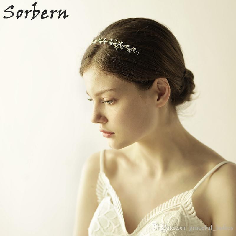 Sorbern Stunning Gold Silver Rhinestone Headpieces Wedding Hair Vine Accessories Handmade Bridal Headband Hair Wedding Jewelry