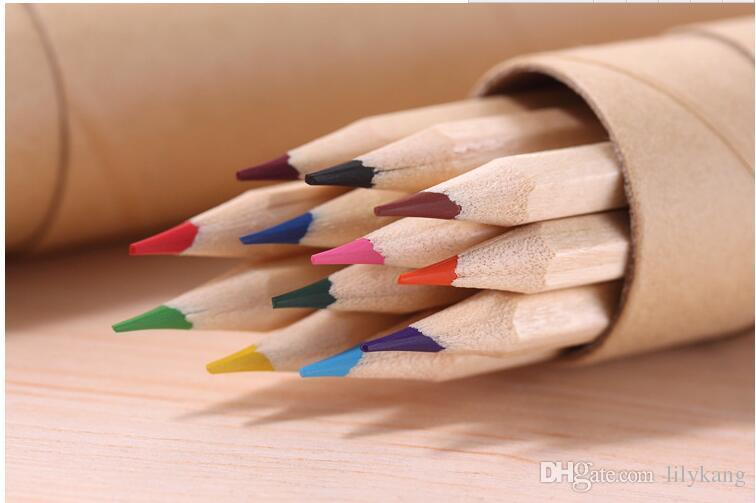 eco-friendly colored Lead Color drawing pencil wood Colour Pencil Sets of 12 colour kids colored drawing pencils children Graffiti pens