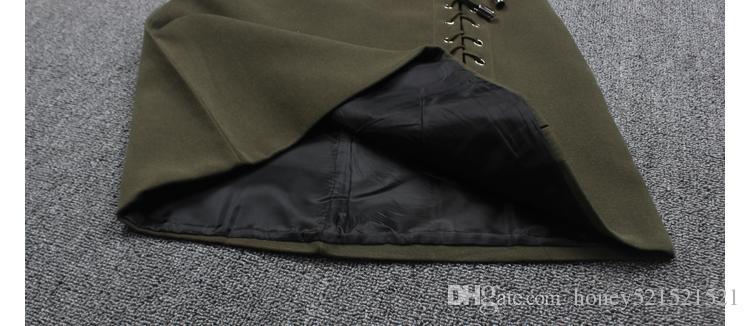 Nowa damska Jesień Moda Wysoka Talia A-Line Sznurowanie Bandaż Patchwork Suede Skórzana Krótka Spódnica Plus Size SML