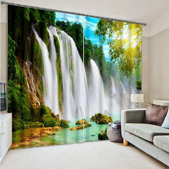 See larger image2017 3d Curtains For Living Room Window Curtain Waterfall Blackout  . Living Room Waterfall. Home Design Ideas