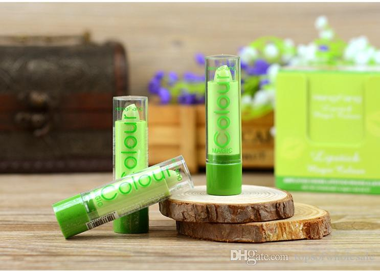 2016 New Arrival HengFang Natural Fruity Magic Green Lipstick Waterproof Mood Lipstick Moisturizing Color Changing Lip Stick