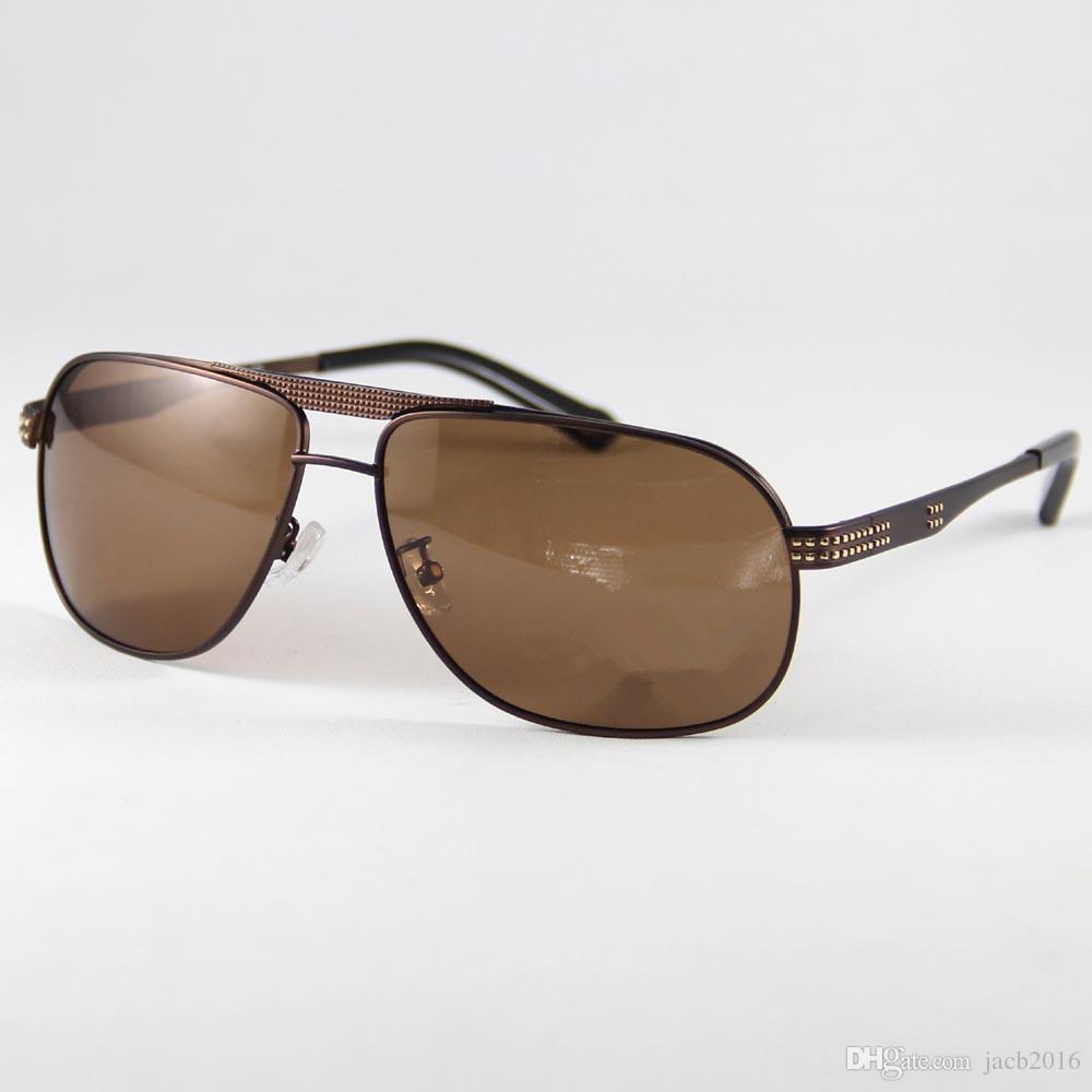 760fac86e986a Compre Homens Óculos De Sol Polarizados Óculos De Armação Liga Óculos De  Esportes Fahsion Óculos De Sol Ponto De Sombra Para Ler Eyewear Olho  Glassses Uv400 ...