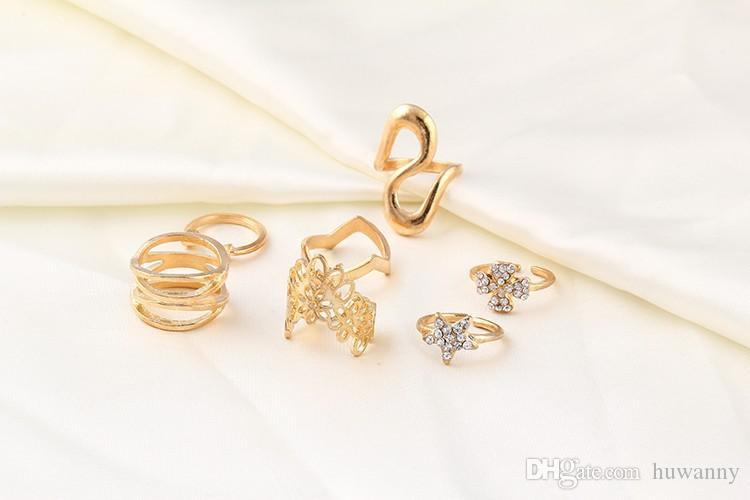 설정 / 실버 쥬얼리 무료 배송 여성 여자 에 대한 반지의 보석 골드 밴드 링 CZ 다이아몬드 중공 꽃 S 스타일의 손가락 반지 - 0345WH