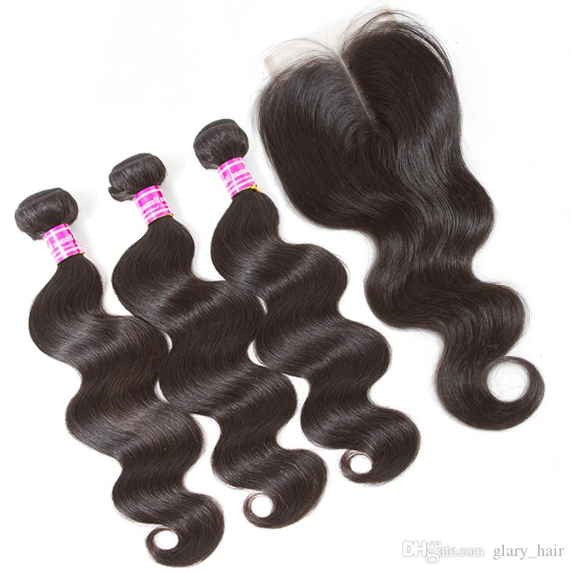 100% unprocessed brazilian virgin human hair body wave weft 3 bundles with 13x4 lace frontal or 4x4 lace closure human hair weave
