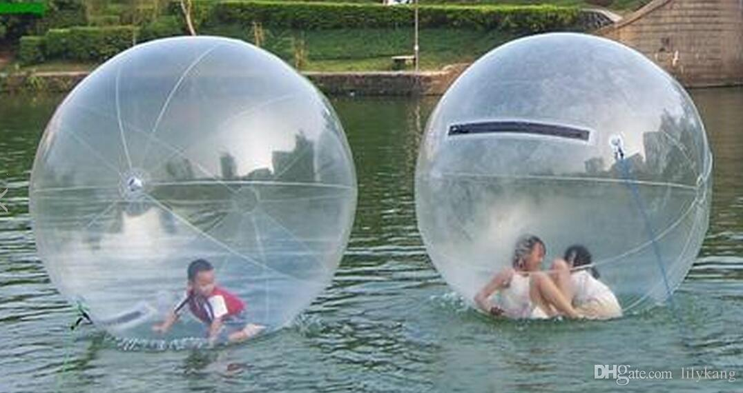 PVC Material Inflatable Water Bubble Large inflatable water walking balls Water Fun Pool Toy inflatable dancing zipper ball