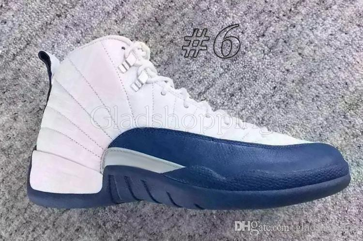 12 XII Gym Red Wolf Ailes grises Maître de la grippe Game French Blue University Bleu Blanc Rose Hommes Femmes Basketball Chaussures 12s Sneakers