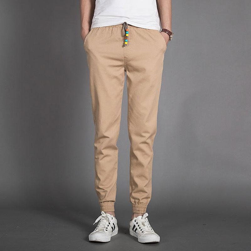 2018 Wholesale Khaki Joggers Men Pants New Arrival Fashion Slim Fit