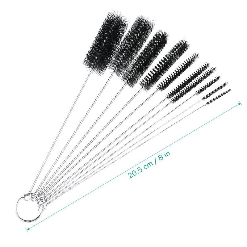 tube en nylon brosse ensemble brosse de nettoyage pour pailles à boire verres claviers bijoux nettoyage nettoyage fournitures de maison