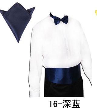Robe Tuxedo Bow Tie 26 couleurs de la mode des hommes solides Bowtie + Cummerbund taille Sealing + poche de mouchoir pour le cadeau de Noël de fête des pères