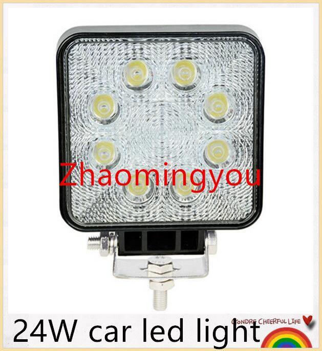 2400 Lm Mini 24w 8 X 3w Car Bridgelux Round Led Light Bar As Work