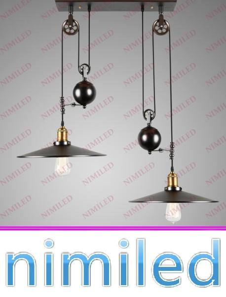 Nimi672 123 light vintage rh loft industrial led american country nimi672 123 light vintage rh loft industrial led american country adjustable l pulley chandelier pendant lights lighting lamps retracta metal pendant aloadofball Image collections