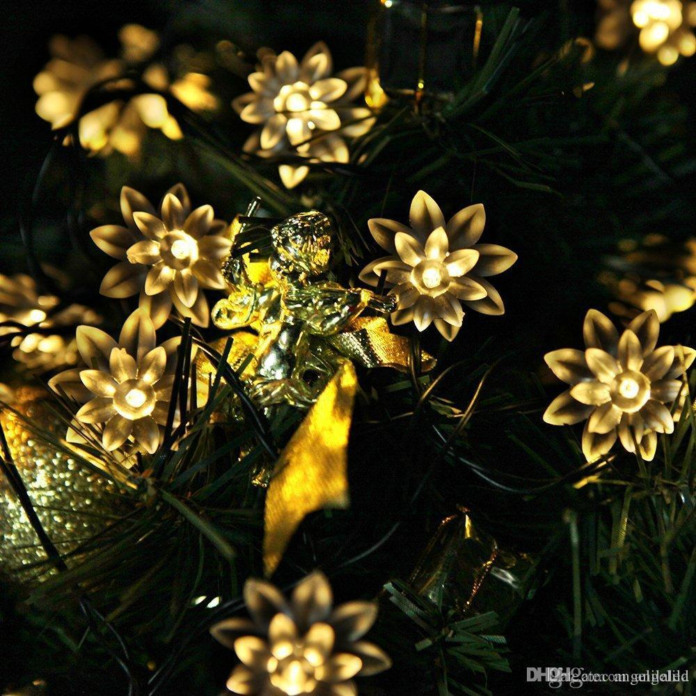 solar power and battery operated fairy string lights 48m 20 led outdoor festive garden lawn patio christmas trees wedding party decorations battery - Battery Operated Outdoor Christmas Decorations