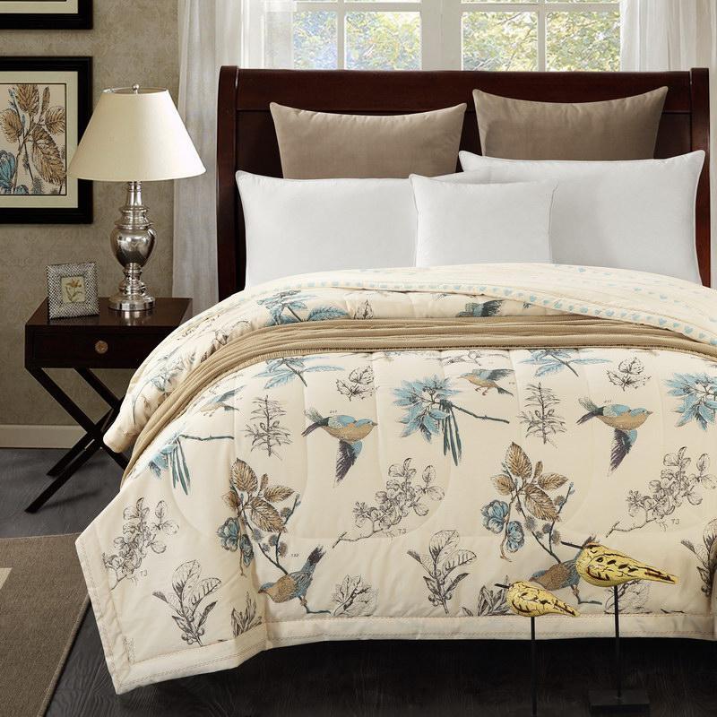 acheter gros coton la couette de couvre lit oiseau t couette 150x200cm et 200x230cm couverture de lit en coton de 4368 du copy02 dhgatecom - Couverture Lit