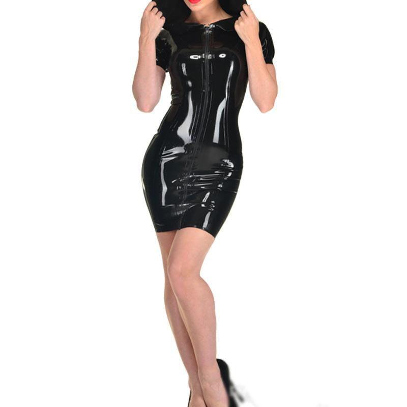 Женщины из искусственной кожи с шляпой танцевальные костюмы сексуальные женские латексные фетиш пвх Fantasias Eroticas белье белье S-XXL Большой размер