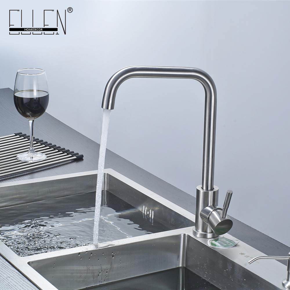 Online Cheap Brushed Nickel Kitchen Faucet Modern Kitchen Mixer Tap ...