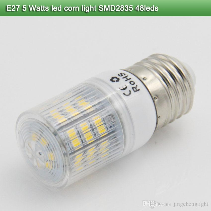 5x led energy saving lamp e27 5 Watt corn lamp warm white smd 2835