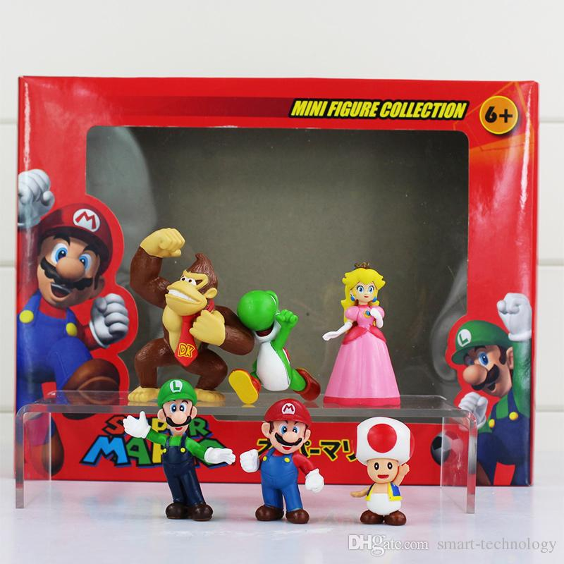 Super Mario Bros Luigi donkey kong Action Figures yoshi mario figure Gift For Childrens' toy