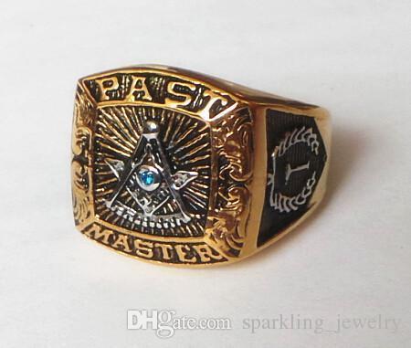 Fashion Freemason Masonic Symbols Ring For