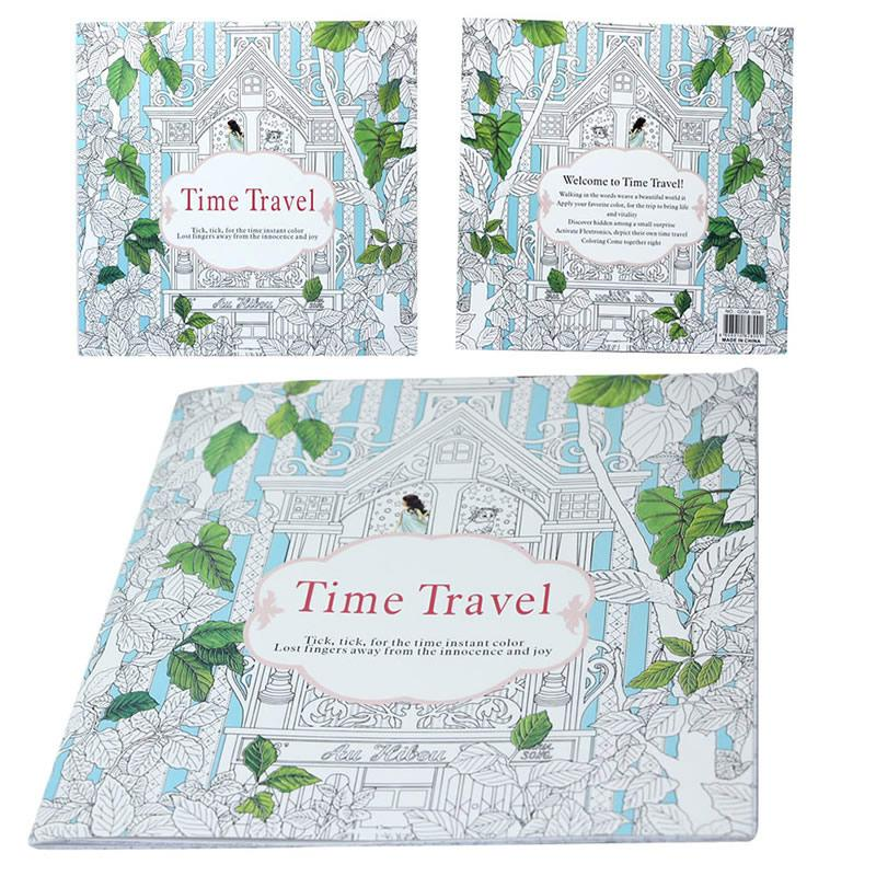 new secret garden series time travel graffiti painted coloring book for kids adults relieve stress graffiti painting drawing book kids coloring book pages - Travel Coloring Book
