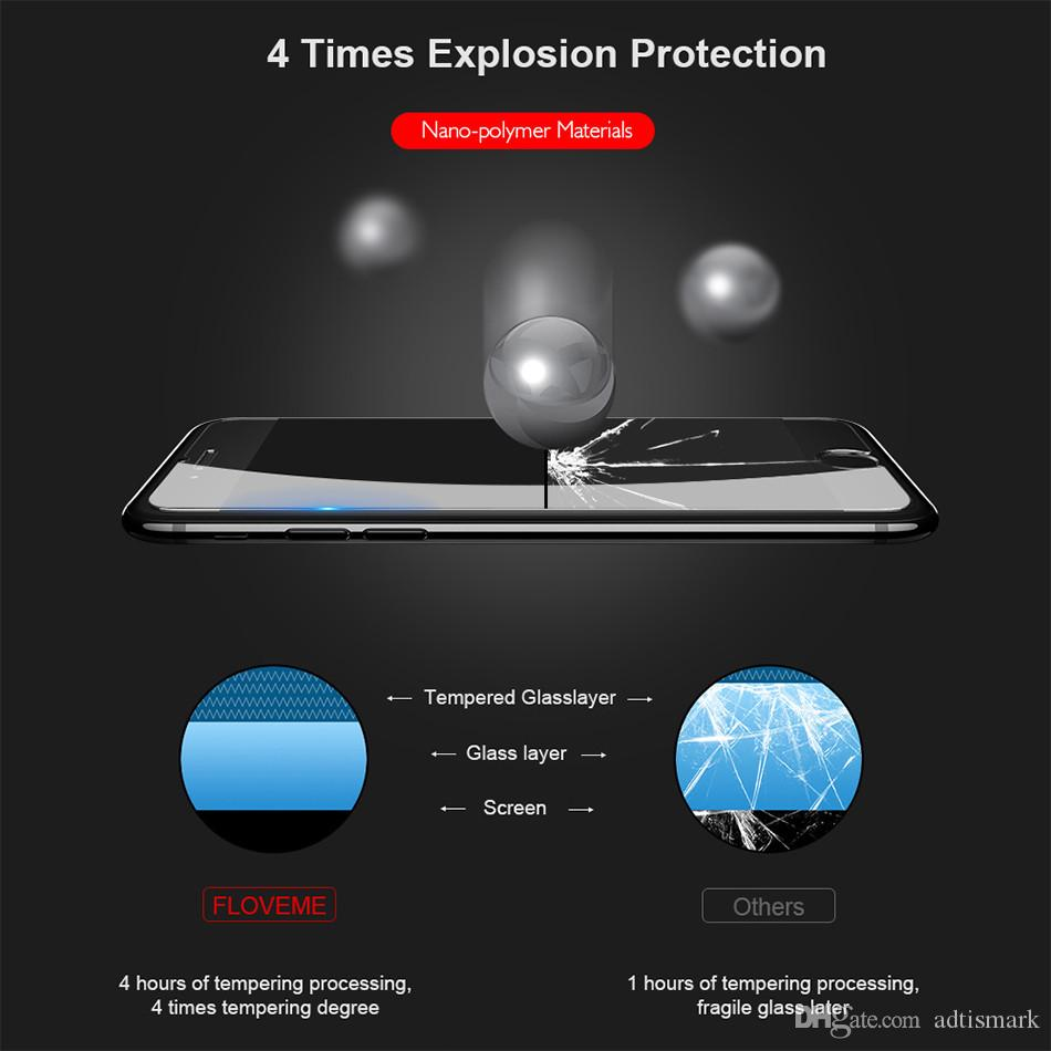 HD 0.15mm Tempered Glass For iPhone 6 6s 7 Explosion Protection Screen Protector For iPhone 6 7 6s Plus Flexible Folded