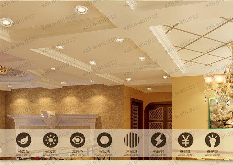 Golden LED holofotes de cerâmica estilo europeu recesso corredor lâmpadas Alta LED 3 w luzes de teto braçadeira de luz sala de estar luz LLFA11