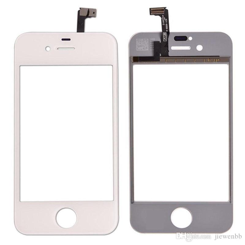 Touch Screen Digitizer Front Glass For iPhone 4 4S 4G Replacement Lens Outer Touch Panel Lcd Screen Case + Repair Tool