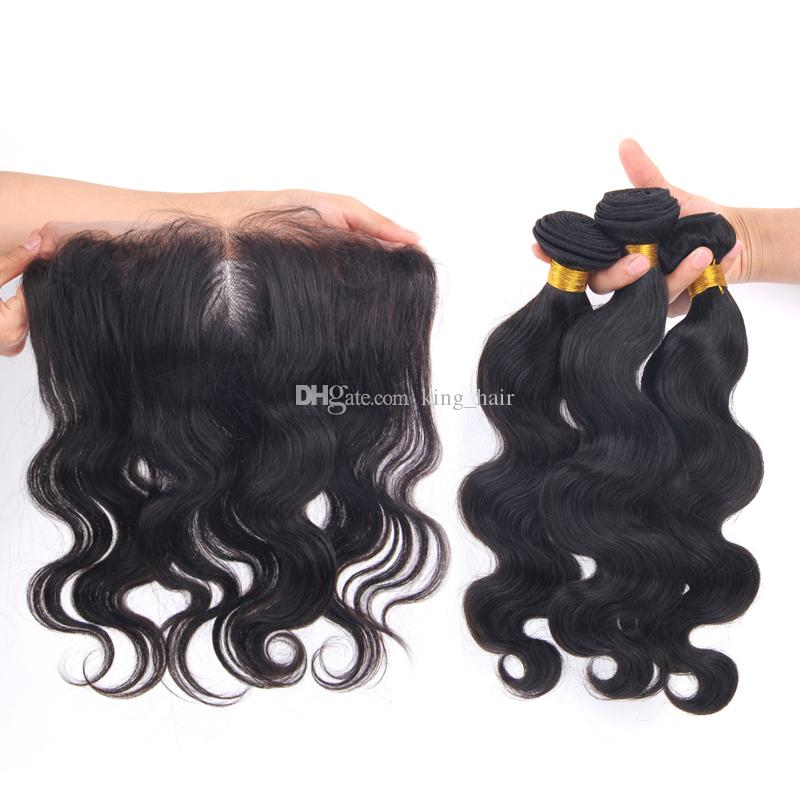 Free Parting Body Wave Ear To Ear Lace Frontal With Hair Weaves Hair