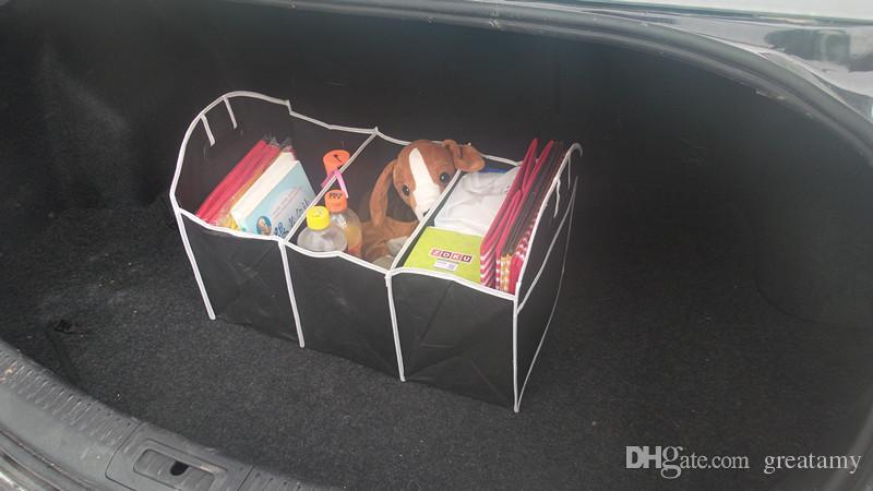 2016 neue Auto Organizer Boot Stuff Lebensmittel Aufbewahrungsbeutel kofferraum organizer Automobil Verstauen Aufräumen Innen Zubehör Folding Collapsible