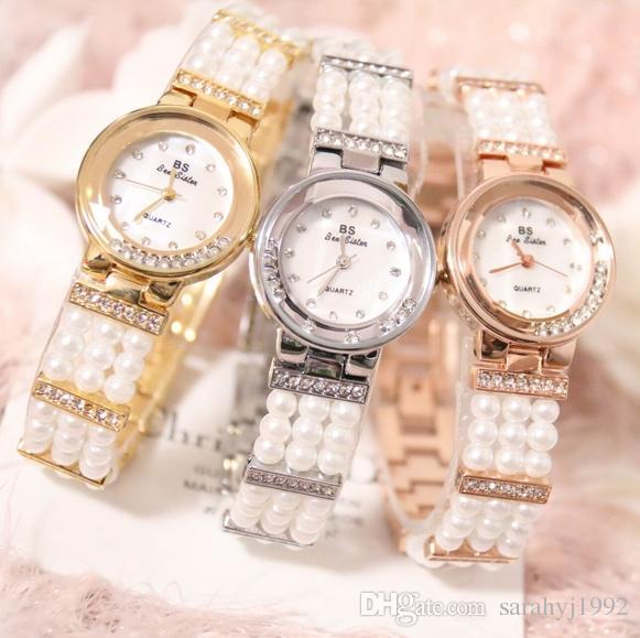 BS new watch catena di alta gamma Guarda pieno di perforazione orologio madreperla FA1373