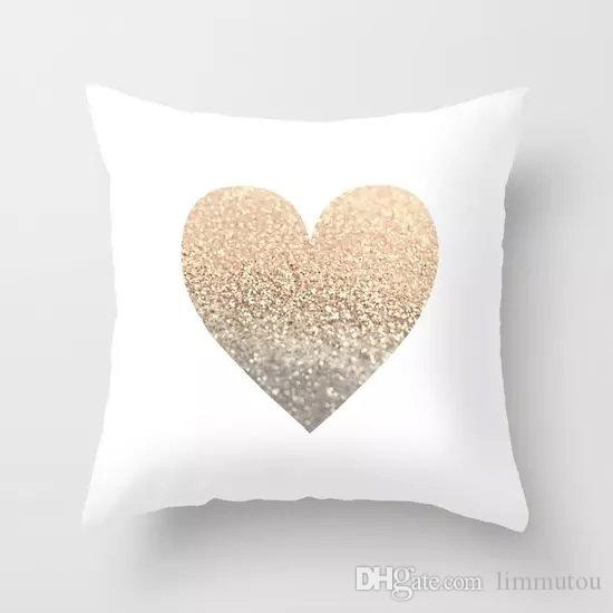 1818 45x45cm printing heart outdoor furniture cushions cover