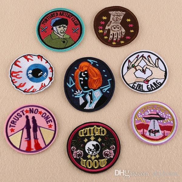fc07f84d22bb 2019 MOON CHILD FIGHT Patch Badge Patches Embroidered Cute Badges ...