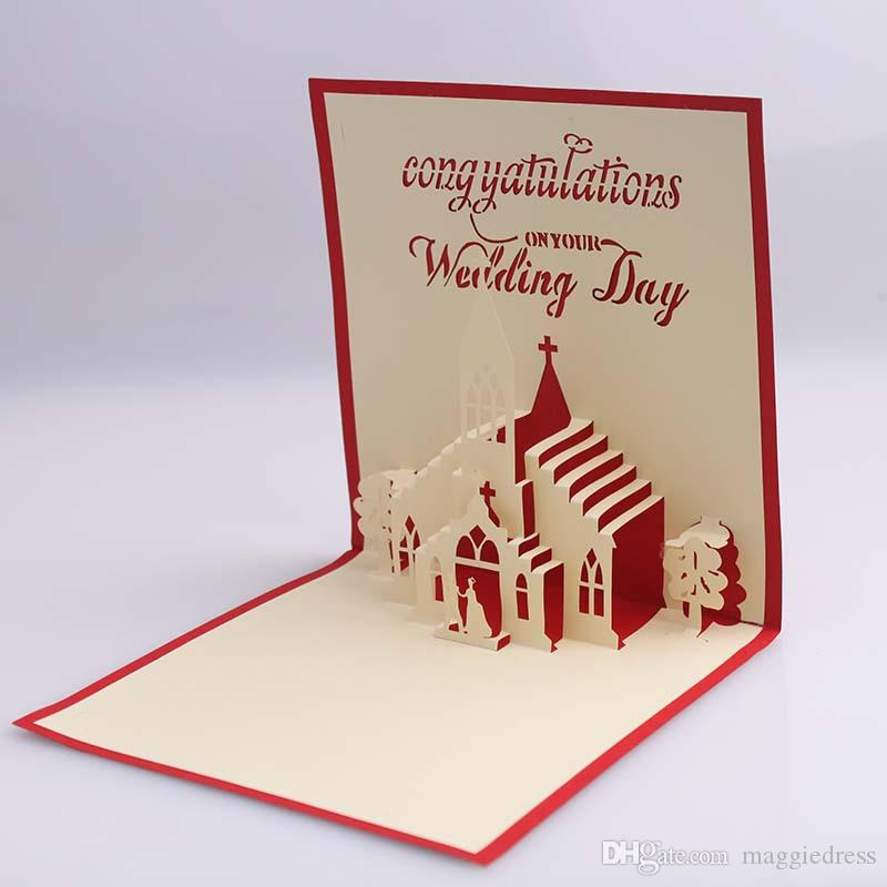 Professional 3d Hollow Creative Design Wedding Invitations Hand