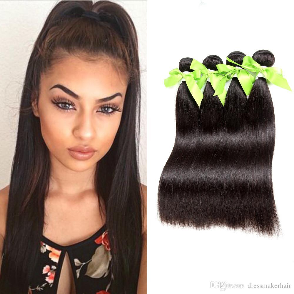 Silky Straight Hair 3virgin Human Hair Extensions Cheaper Silky