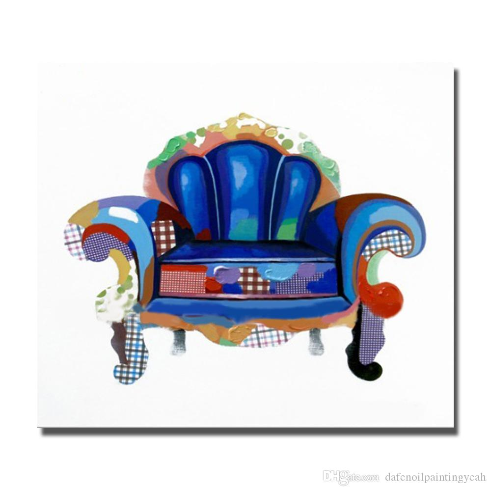 Home Wall Art Pictures For Living Room Decoration Hand Painted Abstract Modern Chair Oil Painting Canvas Art No Framed