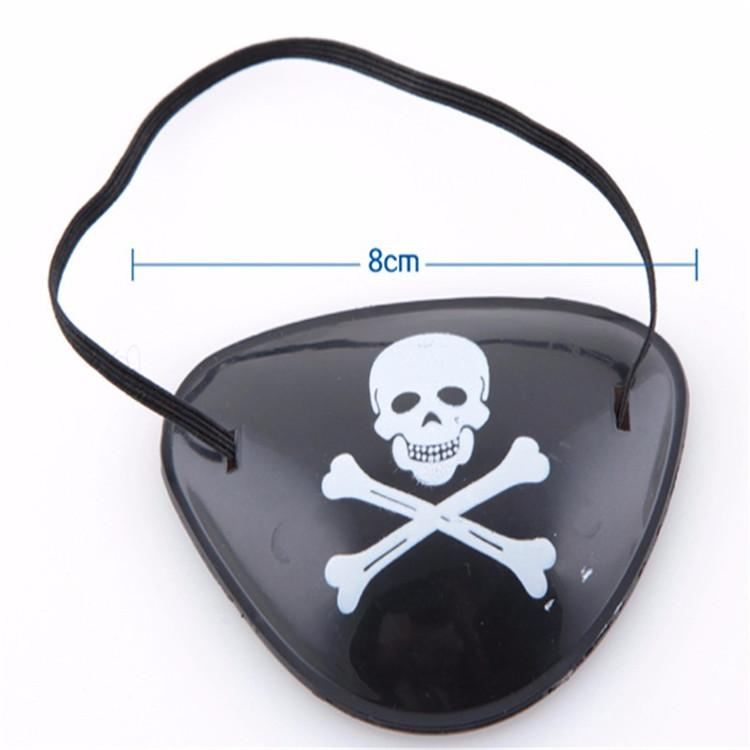Hot Pirate Eye Patch Halloween Masquerade Pirate Accessories Cyclops Eye Patch Lazy Eye Amblyopia Skull Patch Toys