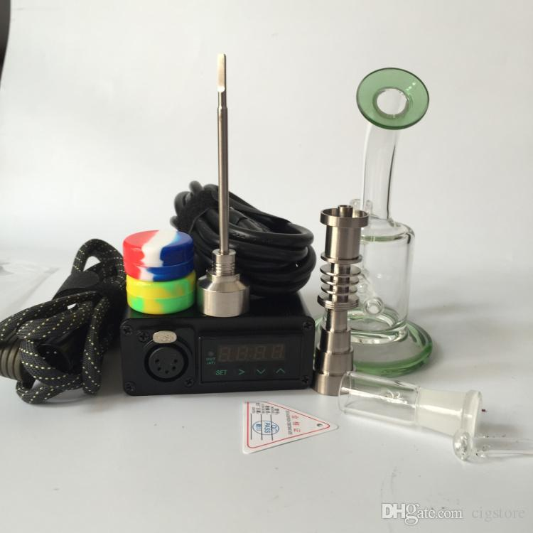 New arrival Dnail Enail kit contain upgrade 6 in 1 Titanium nails fit 10mm&16mm&20mm heating coils work with latest glass bong