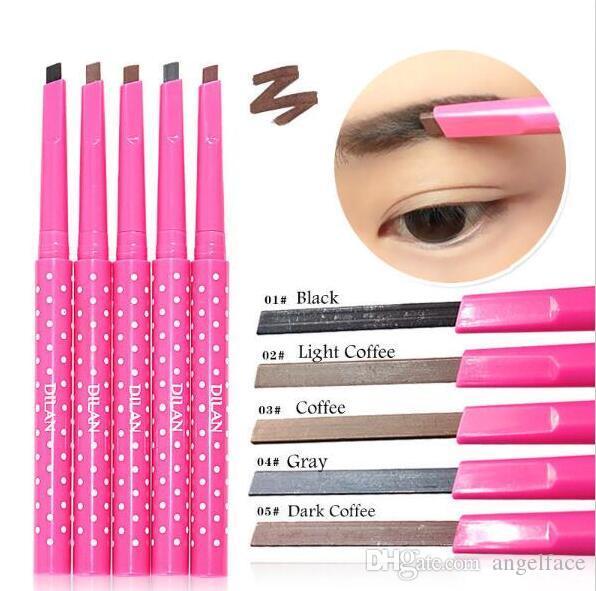 Profesional Impermeable Lápiz de Cejas Pluma de Ojos Cejas Sombreador de ojos Liner Polvo Maquillaje Herramienta es Envío Gratis