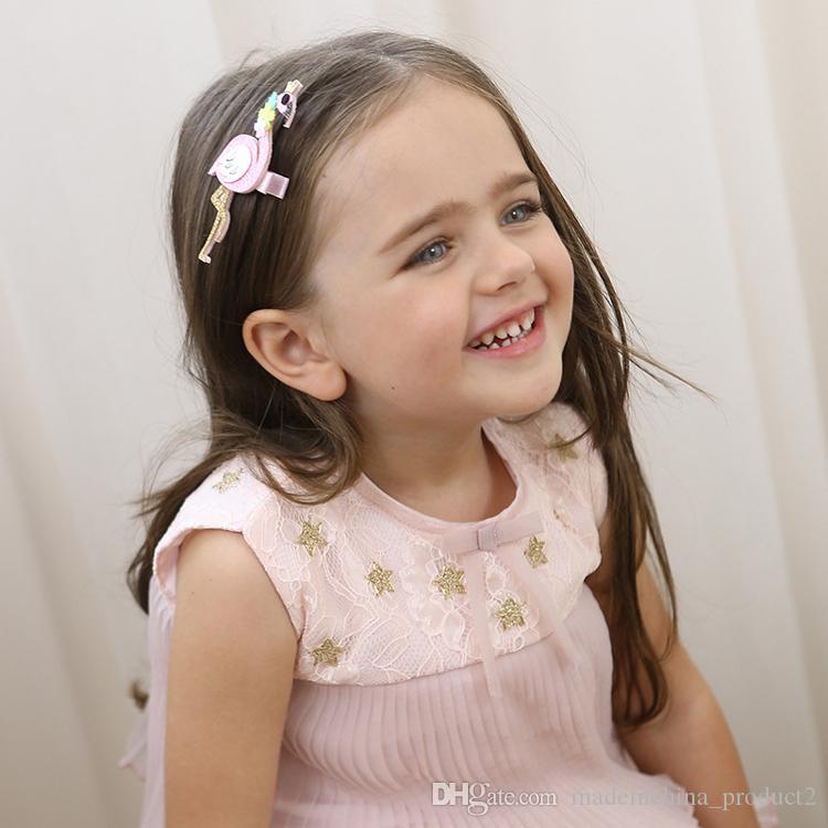 Moda Sevimli Karikatür Flamingo Ve baykuş Bebek Tokalar çocuklar Saç Klipler Çocuk Şapkalar Prenses Barrette Kız Saç Aksesuarları